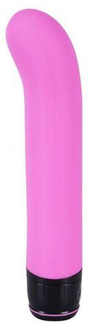 Розовый изогнутый вибратор Mr. Nice Guy - 23 см.