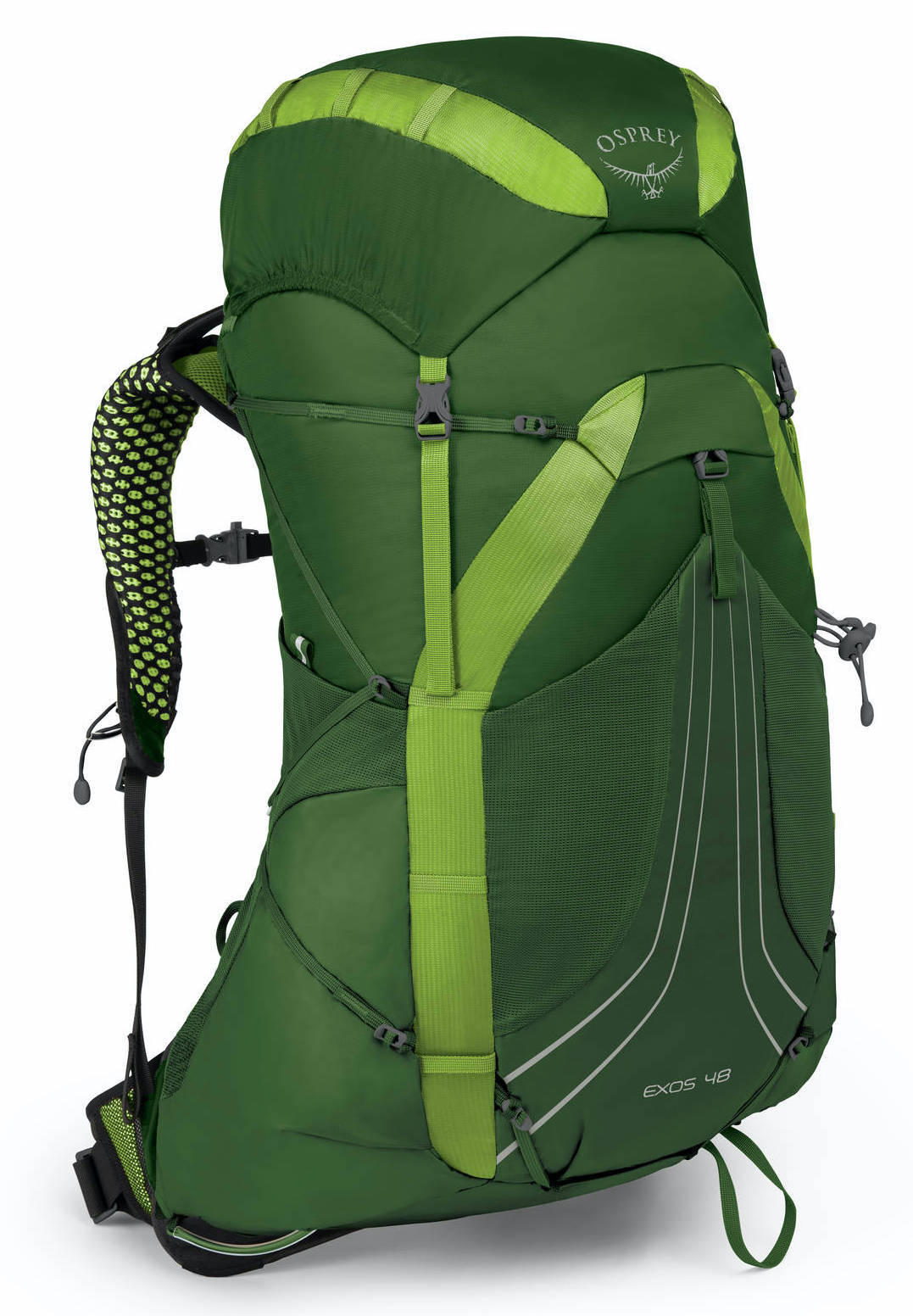 Туристические рюкзаки Рюкзак Osprey Exos 48 Tunnel Green Exos48_S18_Side_TunnelGreen_web.jpg