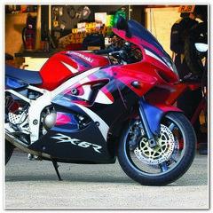 Набор виниловых наклеек на мотоцикл KAWASAKI ZX-6R, 1999