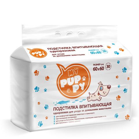 Petmil My Puppy Пеленка-туалет 30 шт подстилка впитывающая 60х60 см
