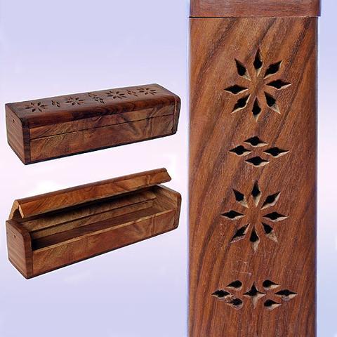 Подставка под благовония пенал  резное деревo квадратный 25cm-5cm