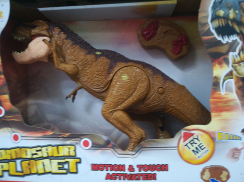 Коричневый динозавр со слепком(со звуком)