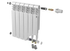 Биметаллический радиатор с нижним правым подключением Vittoria Super 500 VD - 12 секций