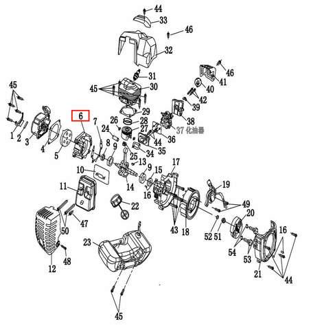 Картер правая сторона  для лодочного мотора T2 SEA-PRO