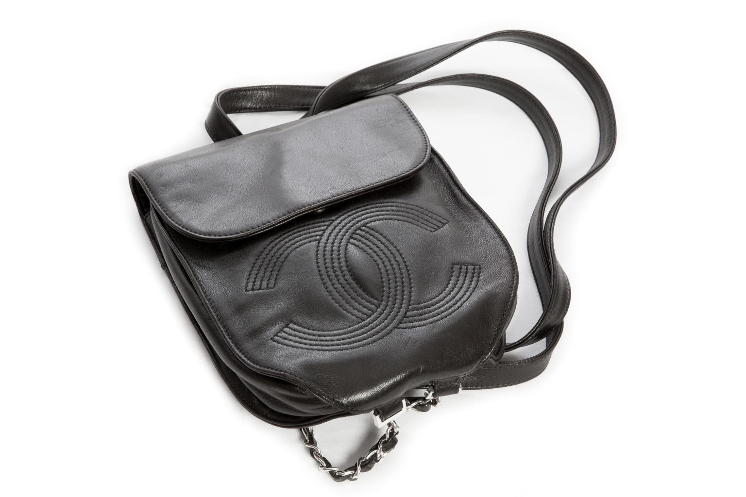 Стильный кожаный рюкзачок от Chanel.