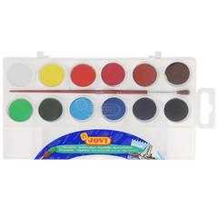 Акварельные краски Jovi 12 цветов с кистью