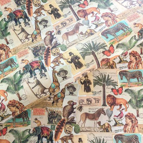 Бумага подарочная декоративная Африка