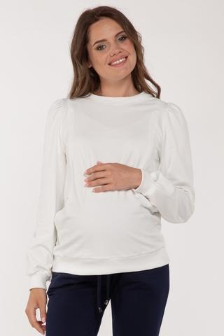Свитшот для беременных и кормящих 11699 молочный