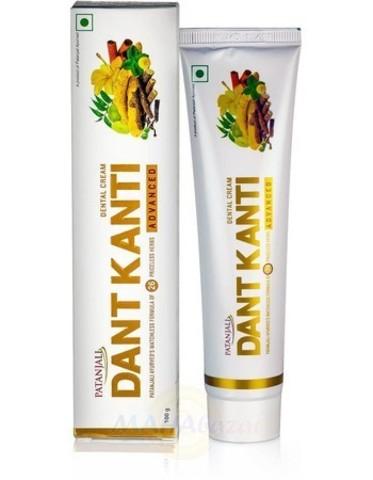 Зубная паста аюрведическая Patanjali Dant Kanti Advanced Toothpaste с эктрактами 29 трав, 100 гр