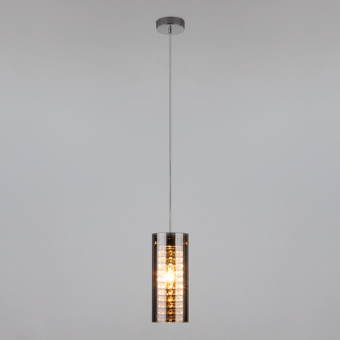 Подвесной светильник с хрусталем 1636/1 хром