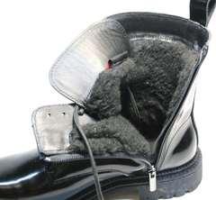 Мартинсы с мехом женские зимние Ari Andano 740 All Black.