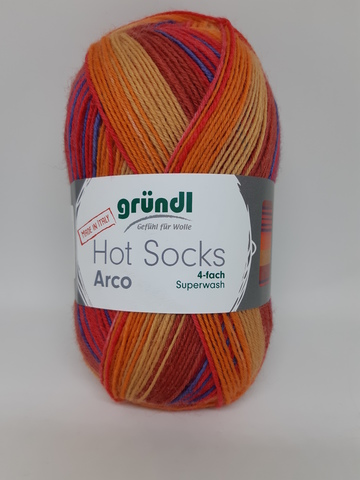 Носочная пряжа Gruendl Hot Socks Arco 06 купить