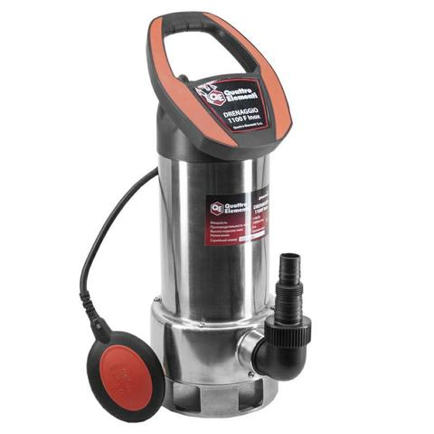 Дренажный насос QUATTRO ELEMENTI Drenaggio 1100 F Inox (1100 Вт, 19000 л/ч, для грязной, 9 (770-742)