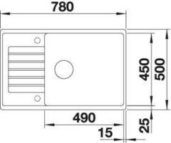 Мойка Blanco Zia XL 6S Compact схема