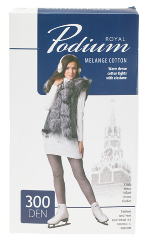 ROYAL Podium Колготки Cotton Plus 300 ден. Nero