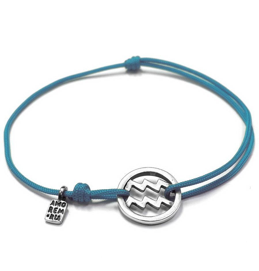 Aquarius bracelet, sterling silver