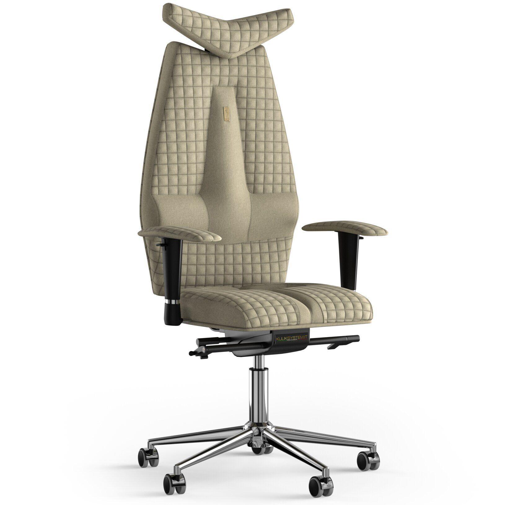 Кресло KULIK SYSTEM JET Ткань с подголовником со строчкой