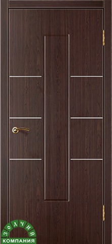 Дверь Валетта (макассар, глухая ПВХ), фабрика Зодчий