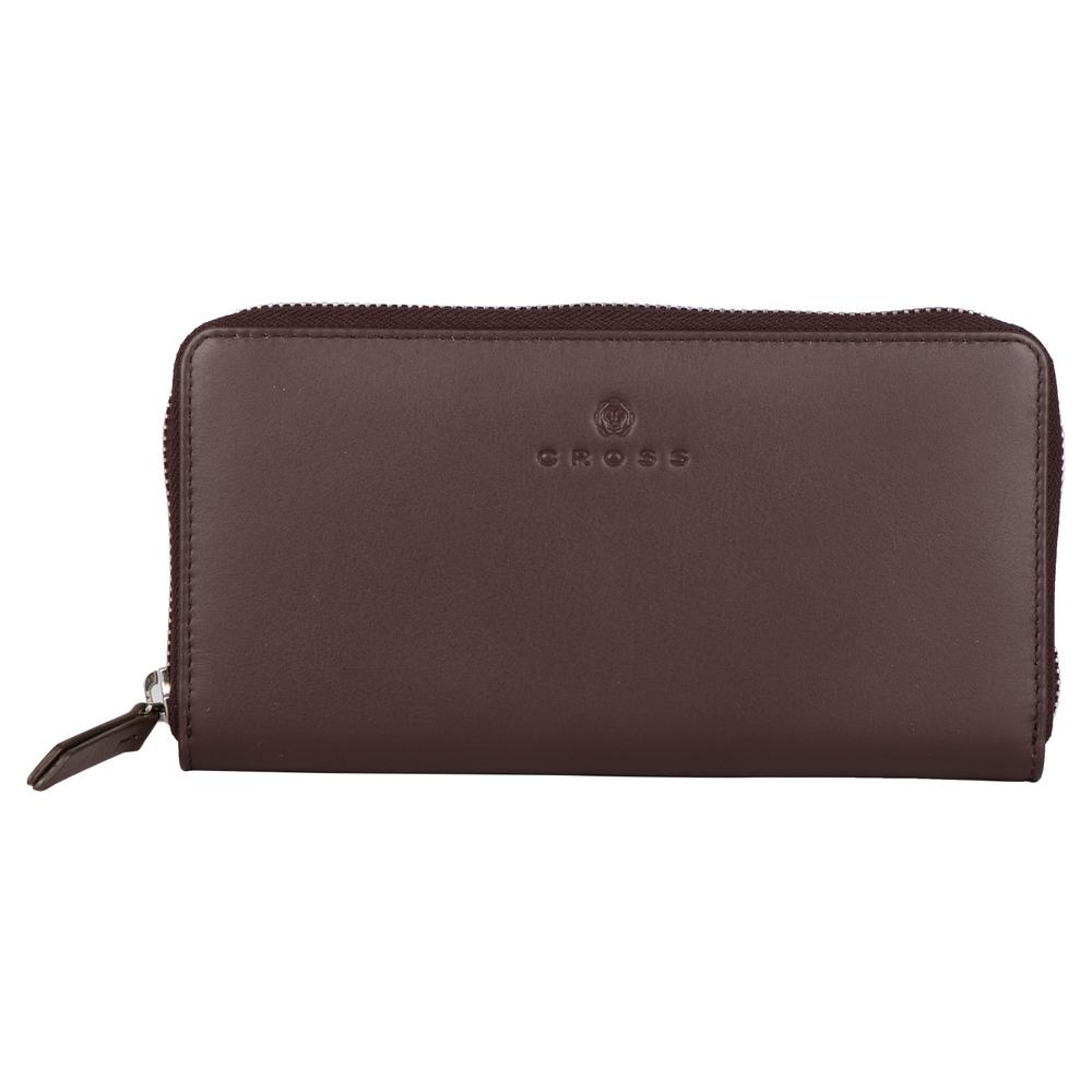 Коричневый большой женский кошелёк-клатч 20х10х2см CROSS Colors Chocolate AC3228287_5-132
