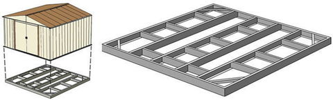 Основание-фундамент для сарая Barnas 3х4м
