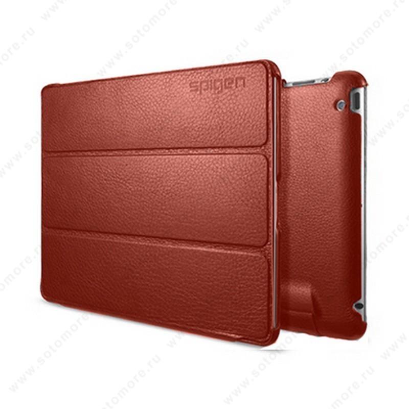 Чехол-книжка SGP для Apple iPad 4/ 3/ 2 - SGP Leather Case Leinwand Series Red SGP09490