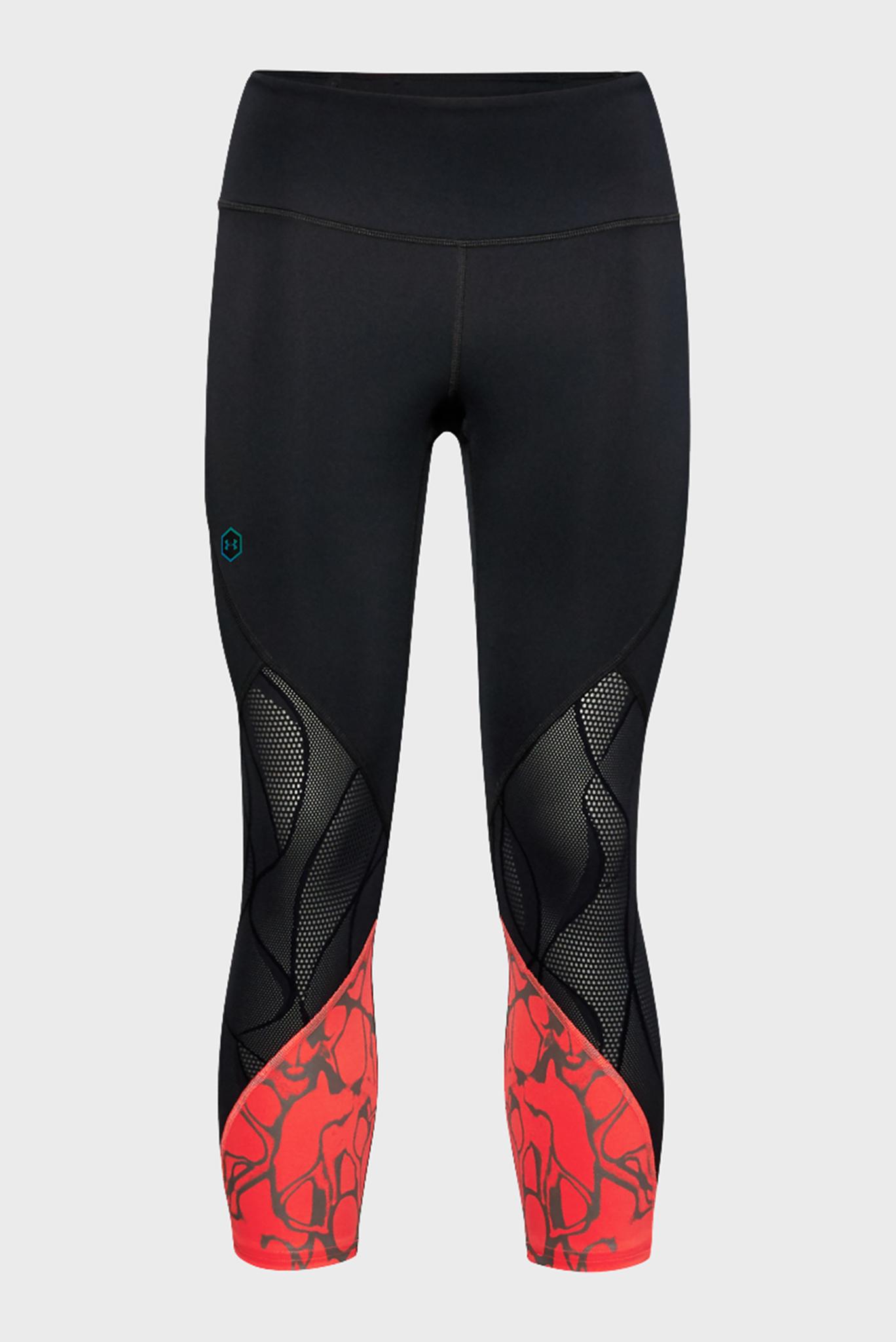 Женские черные спортивные капри UA Rush Vent Iridescent Graphic Crop Under Armour
