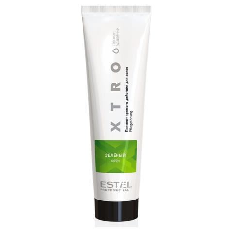 Пигмент прямого действия  для волос XTRO Estel зеленый, 100 мл.