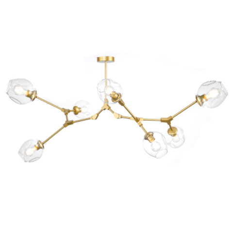 Потолочный светильник копия Branching Bubble by Roll & Hill (Lindsey Adelman) (7 плафонов, золотой)