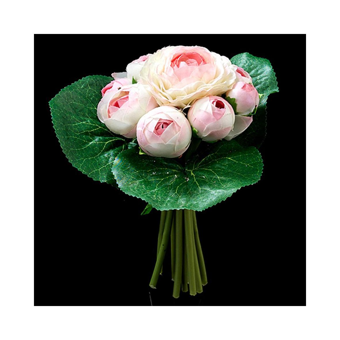 Букет ранулкулусов бело-розовых
