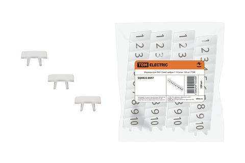 Маркеры для ЗКБ 1,5мм2 цифры 1-10 (упак. 100 шт.) TDM