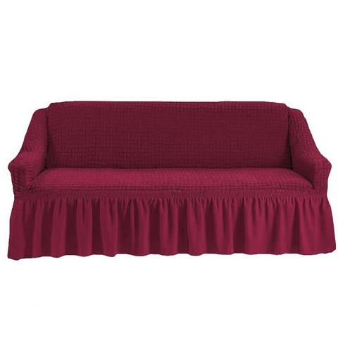 Чехол на четырехместный диван, бордовый