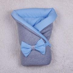 Демисезонный конверт-одеяло  Mini (голубой)