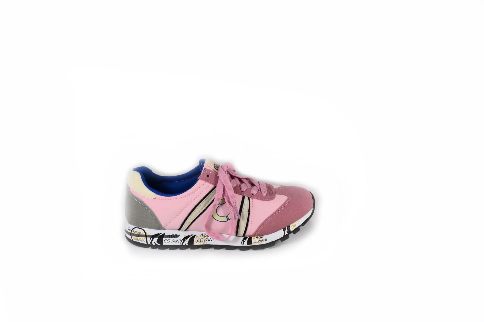 Розовые  кроссовки из текстиля
