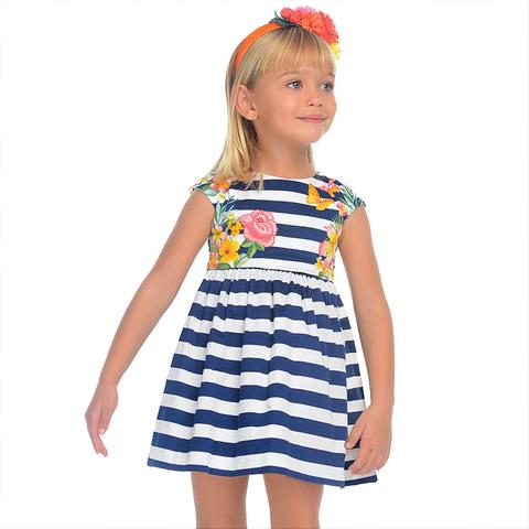 Платье Mayoral расклешенное полосатое