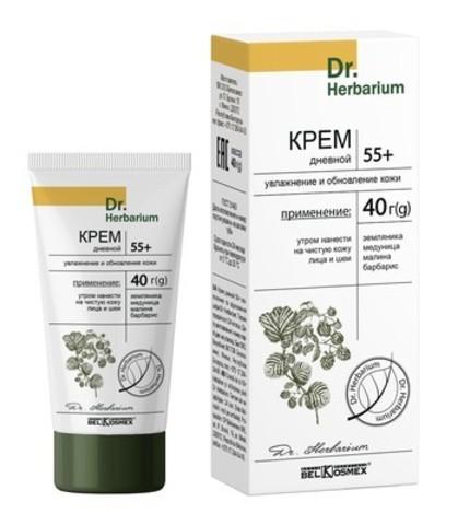 BelKosmex Dr.Herbarium Крем дневной 55+ увлажнение и обновление кожи 40г