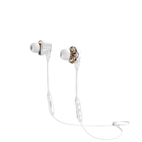 Наушники Baseus Encok S10 Dual Moving-coil Bluetooth Headset White