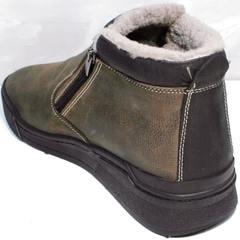 Мужские зимние ботинки на молнии Rifellini Rovigo 046 Brown Black.