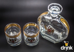 Подарочный  набор «Родина»: штоф 800 мл, 2  стакана 275 мл, фото 5