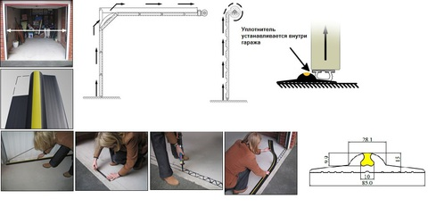 Уплотнитель на пол Weather Step (Россия) комплект 3п.м.