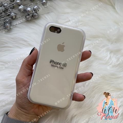 Чехол iPhone 5/5s/SE Silicone Case /antique white/ молочный 1:1