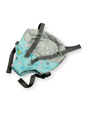 Рюкзак-кенгуру - Мята / серый. Одежда для кукол, пупсов и мягких игрушек.