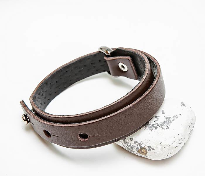 BL805-2 Мужской браслет ручной работы из коричневой кожи