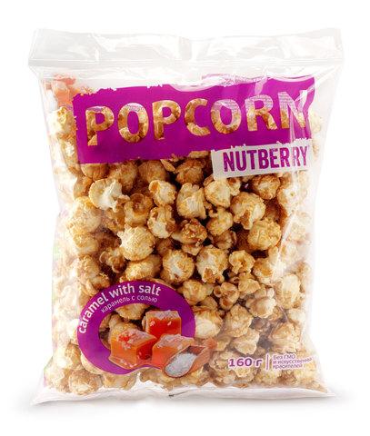 NUTBERRY Попкорн карамель сладко-соленая 160г