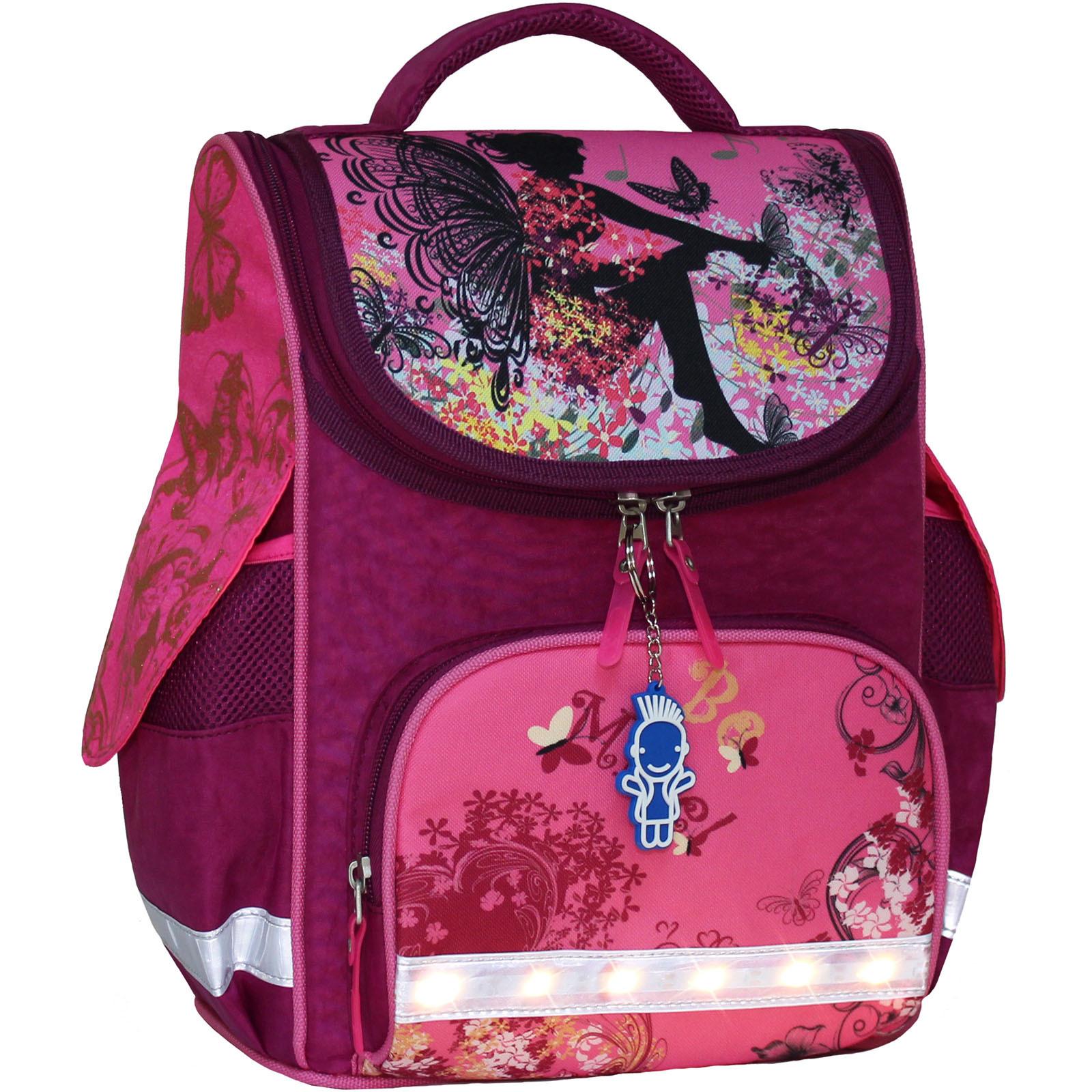 Школьные рюкзаки Рюкзак школьный каркасный с фонариками Bagland Успех 12 л. малиновый 389 (00551703) IMG_7366_2_.jpg