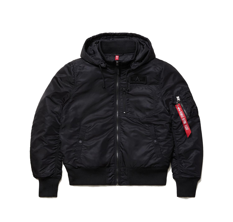 Куртка Alpha Industries MA-1 Hooded Rib Flight Jacket Black