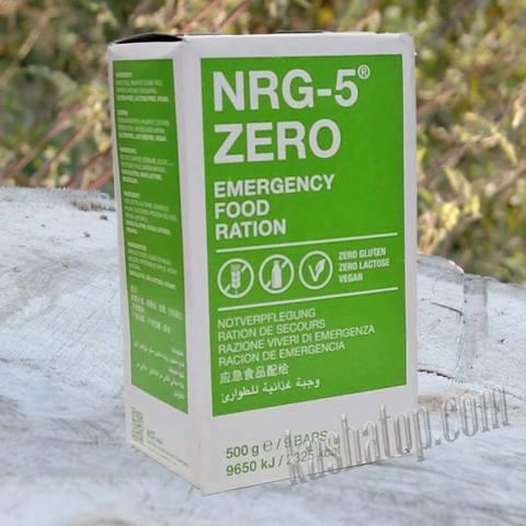 Аварийный рацион NRG-5 ZERO, Германия, без глютена и лактозы, вегетарианский