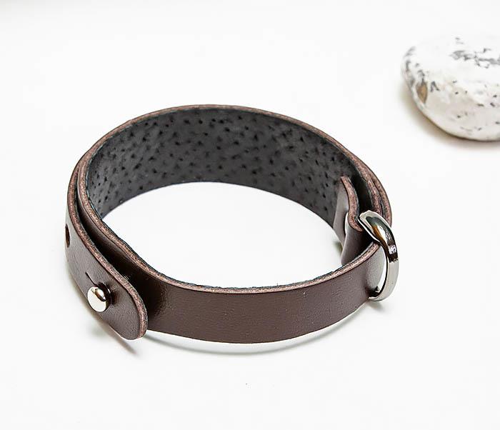 BL805-2 Мужской браслет ручной работы из коричневой кожи фото 02