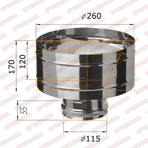 Дефлектор-Д d115мм (430/0,5 мм) Ferrum