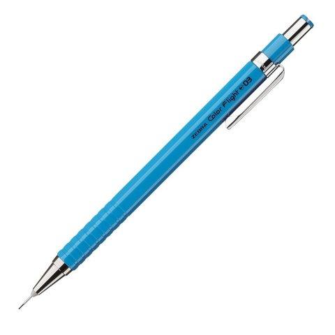 Чертёжный механический карандаш 0,3 мм Zebra Color Flight небесно-голубой