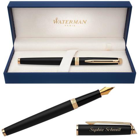Перьевая ручка Waterman Hemisphere, цвет: MattBlack, перо: M123